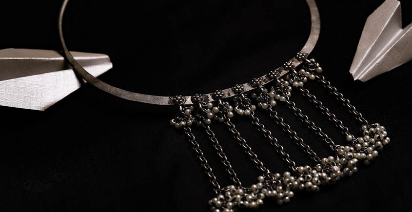 रेवती ✽ Ghunghru Hasli with Pearl Hangings ✽ Necklace ✽ 1