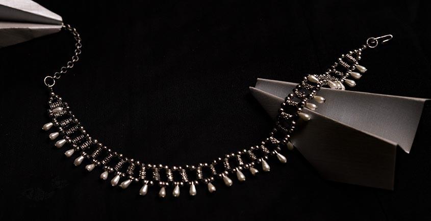 रेवती ✽ Jaali Choker wih Pearl Drops ✽ Necklace ✽ 5