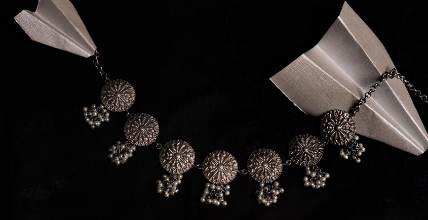 रेवती  ✽ Polka Choker with Pearl Bunch ✽ Necklace ✽ 6
