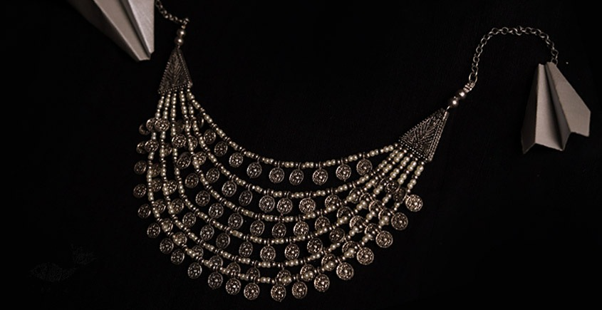 रेवती  ✽ Six Layered Coin Pearl Necklace ✽ Necklace ✽ 16
