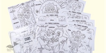 Saffron Stories ♦ A ♦ Colouring Sheets { Gods Series }