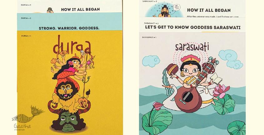 Saffron Stories ♦ L ♦ Indsight Cards { Goddess Series }