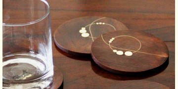 Ekasth ~ Nathni Taarkashi Coasters (Set of Four ) ~ 12