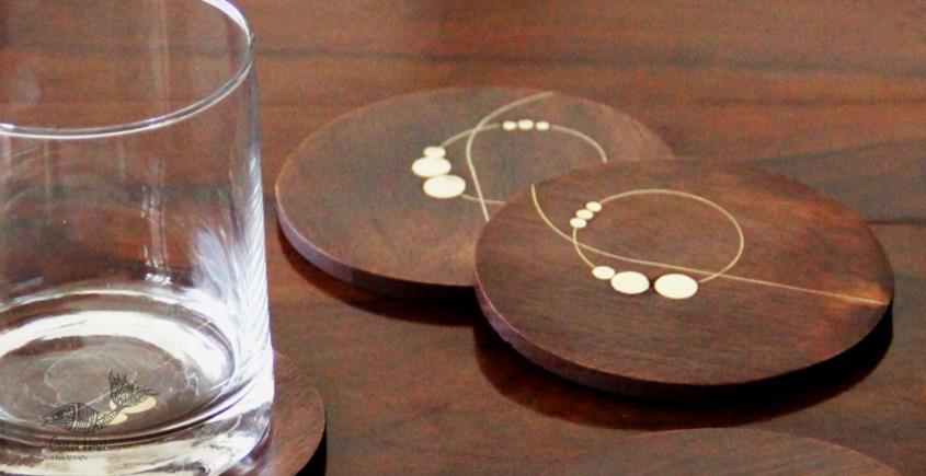 Ekasth ~ Nathni Taarkashi Coasters (Set of Four ) ~ 12