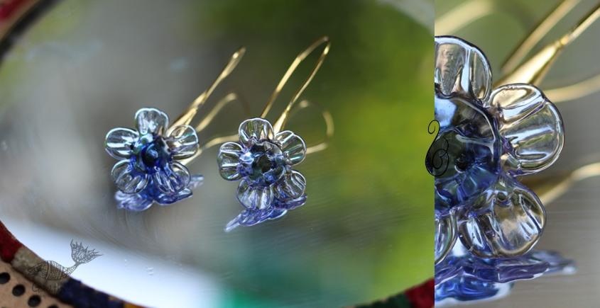 Flora ⚹ Glass Jewellery ⚹ Azure Bluet (Blue) ( Earring ) ~ 18A