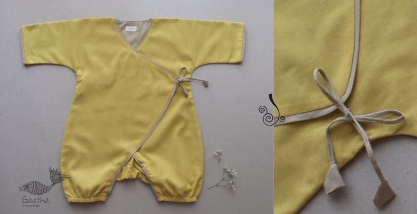 Infant Organic Cotton Garment ★ Mustard Yellow Romper ★ 6