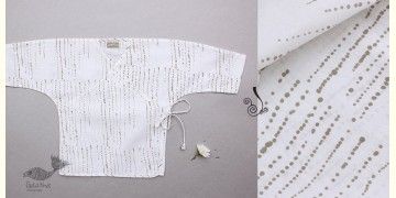 Infant Organic Cotton Garment ★ Humming Dots Summer Wrap ★ 12