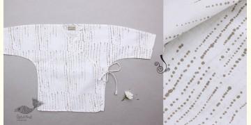 Infant Organic Cotton Garment ★ Humming Dots Summer Wrap ★ 12