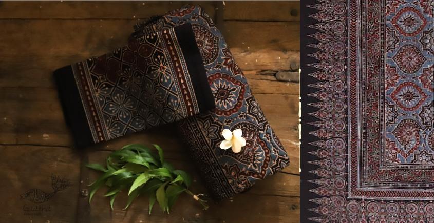buy Traditional ajrakh block printed bedsheet