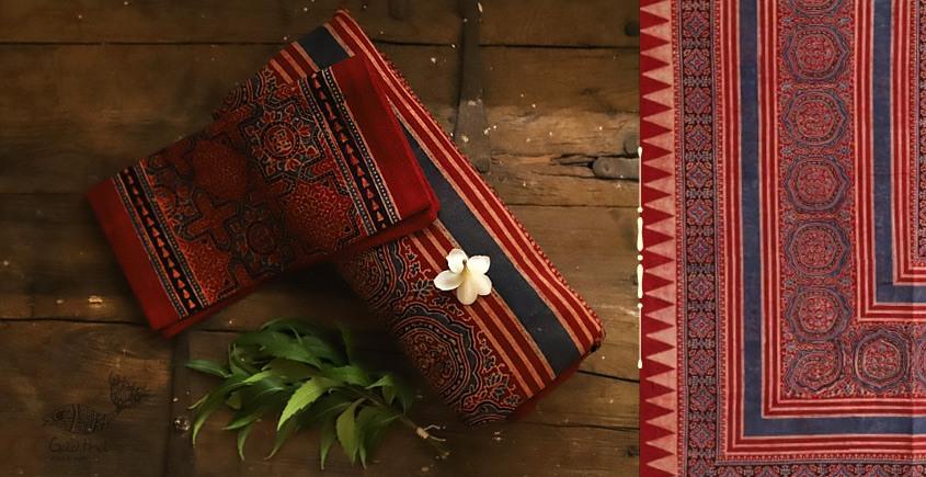 buy Traditional ajrakh block print Dark red bedsheet