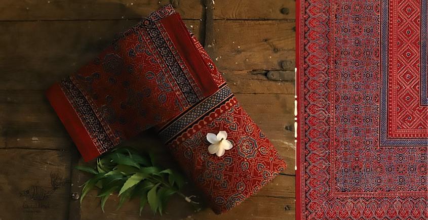 buy Traditional ajrakh block print dark color   bedsheet