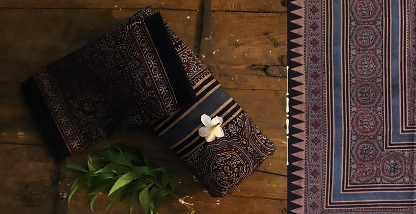 buy exclusive black ajrakh block print bedsheet