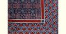 buy Traditional ajrakh block print bedsheet Blue & Red print