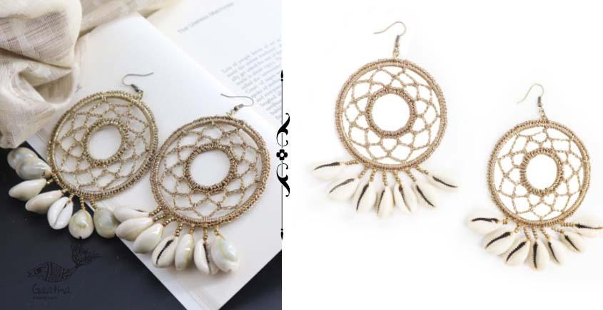shop online handmade  Crochet Shell Earring