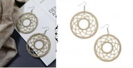Abira ✮ Handmade Golden Round Crochet Earring ✮ 6