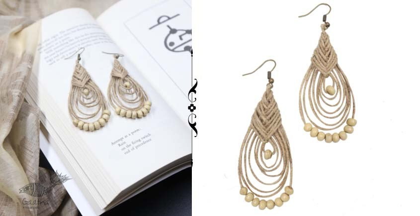 shop online handmade Jute Earring