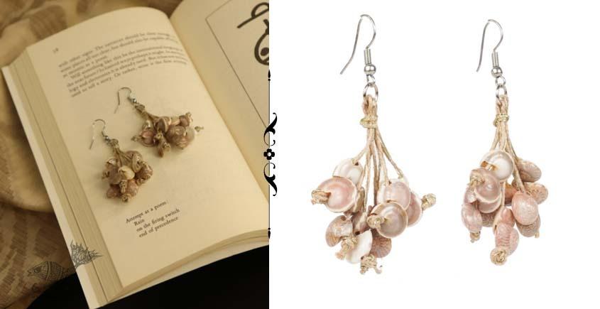 shop online handmade  Jute Shell Earring