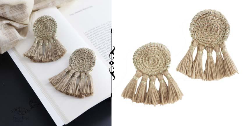 shop online handmade Jute Tassel Earring
