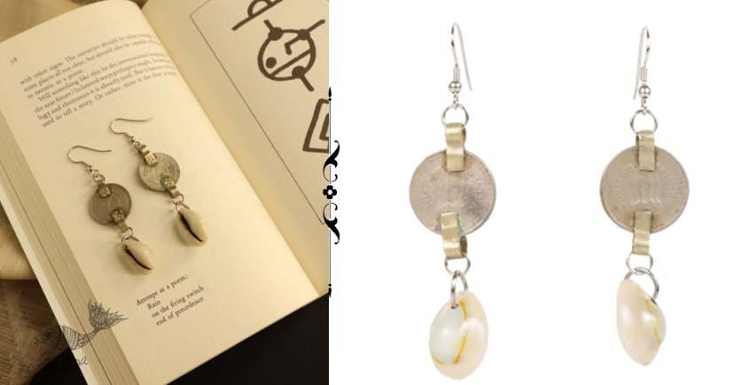 shop online handmade Repurposed Coin & Cowrie Shell Dangler