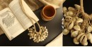 shop online handmade Trendy Jute And Cowrie Necklace