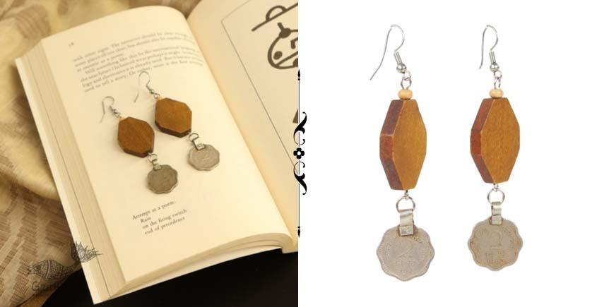 shop online handmade Wood & Repurposed Coin Dangler