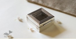 रजत ❧ | Silver Square box - Small - Transparent Top | 6