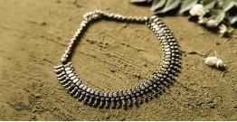 धरा ✽ Antique Finish White Metal ✽ Necklace { 33 }