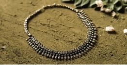 धरा ✽ Antique Finish White Metal ✽ Necklace { 34 }