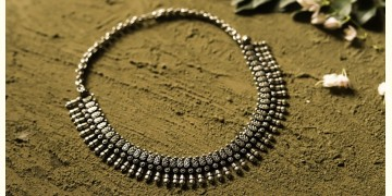 धरा ✽ Antique Finish White Metal ✽ Necklace { 36 }