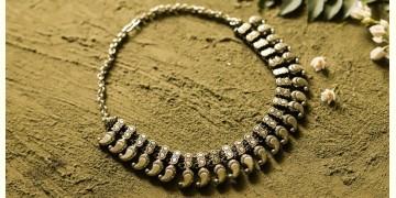 धरा ✽ Antique Finish White Metal ✽ Necklace { 41 }
