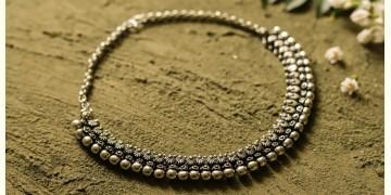 धरा ✽ Antique Finish White Metal ✽ Necklace { 42 }