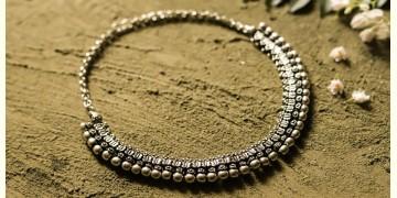 धरा ✽ Antique Finish White Metal ✽ Necklace { 45 }