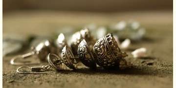 धरा ✽ Antique Finish White Metal ✽ Earring { 1 }