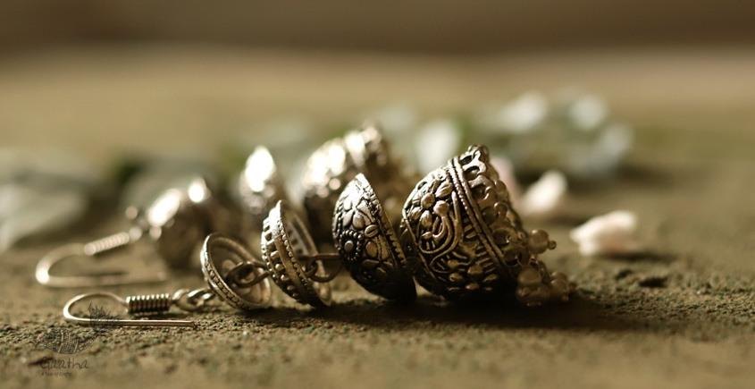 धरा ✽ Antique Finish White Metal ✽ Earring { 1 }