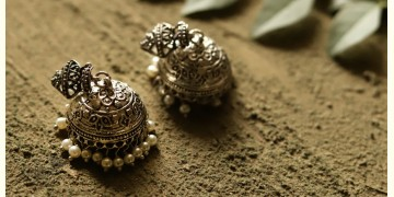 धरा ✽ Antique German Silver ✽ Earring { 2 }
