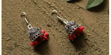 धरा ✽ Antique Finish White Metal ✽ Earring { 3 }