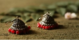 धरा ✽ Antique German Silver ✽ Earring { 5 }