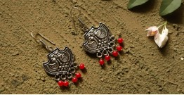 धरा ✽ Antique German Silver ✽ Earring { 6 }