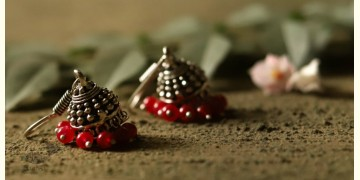 धरा ✽ Antique German Silver ✽ Earring { 7 }