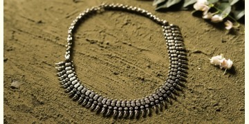 धरा ✽ Antique Finish White Metal ✽ Necklace { 32 }