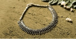 धरा ✽ Antique Finish White Metal ✽ Necklace { 33 }