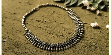 धरा ✽ Antique German Silver ✽ Necklace { 34 }