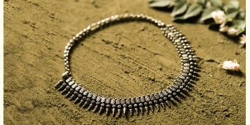 धरा ✽ Antique Finish White Metal ✽ Necklace { 37 }