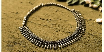 धरा ✽ Antique Finish White Metal ✽ Necklace { 38 }