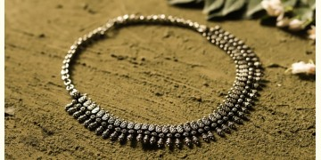 धरा ✽ Antique German Silver ✽ Necklace { 39 }