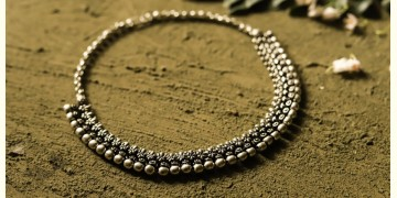 धरा ✽ Antique Finish White Metal ✽ Necklace { 40 }