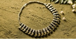 धरा ✽ Antique Finish White Metal ✽ Necklace { 41 }