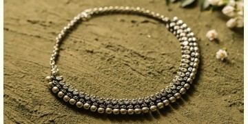 धरा ✽ Antique Finish White Metal ✽ Necklace { 42 }