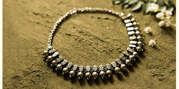 धरा ✽ Antique Finish White Metal ✽ Necklace { 43 }