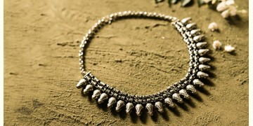 धरा ✽ Antique Finish White Metal ✽ Necklace { 44 }